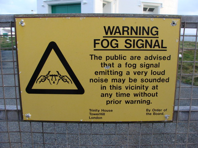 Notice at fog signal station